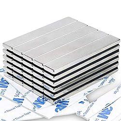 Powerful Neodymium Bar Magnets, Rare-Earth Metal Neodymium Magnet - 60 x 10 x 3 mm, Pack of 30: Amazon.com: Industrial & Scientific