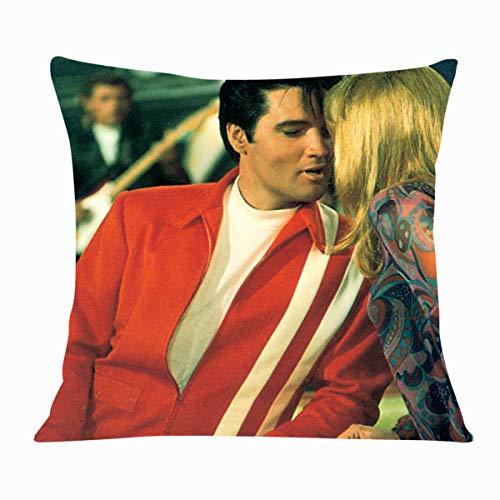 Elvis Aron Presley One Funda de Almohada cojín Cuadrado sólido algodón el Terciopelo holandés Fundas de Almohada decoración del hogar para sofá Coche Dormitorio 16 x 16 Pulgadas uno
