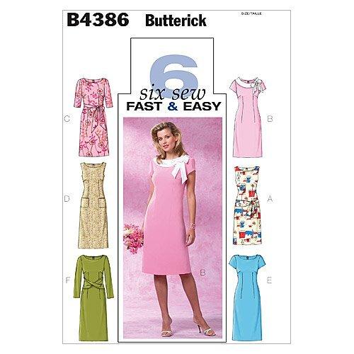 BUTTERICK PATTERNS B4386 Misses'/Misses' Petite Dress, Size FF (16-18-20-22)