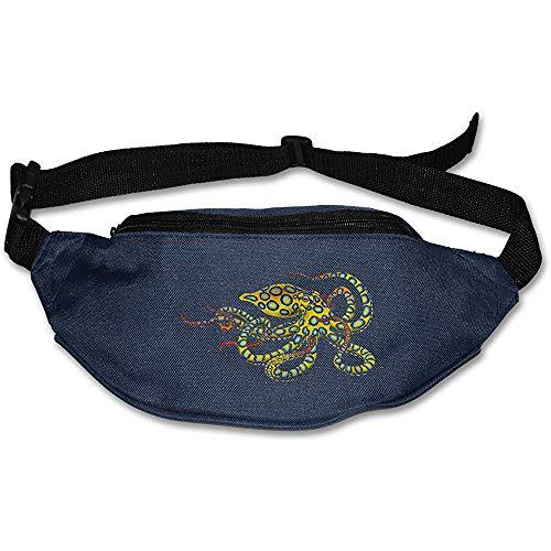 Sac Banane Fanny Pack Blue Ring Octopus Pouch Belt Travel Pocket Sports De Plein Air