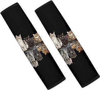 أغطية حزام مقعد السيارة للقطط من Xhuibop للنساء عبوة من 2 وسائد كتف للسيارات، حزام أمان سهل التركيب، أغطية مقاعد السيارة S...