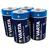 VARTA Longlife Power D Mono LR20 Batterie (4er Pack) Alkaline Batterie - Made in Germany - ideal für Spielzeug Taschenlampe CD-Player und andere batteriebetriebene Geräte
