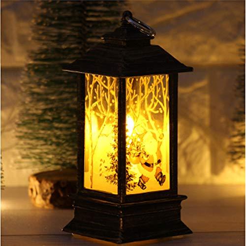 FeiliandaJJ Weihnachten Deko LED Licht Vintage Weihnachten Öllampen Flamme Lampe Camping Zelt Licht Nachtlicht Weihnachten Kerzen Licht Garten Party Xmas Home Dekoration (D)