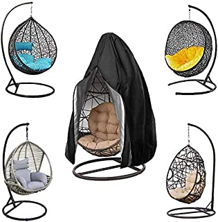 EBAT Patio Hanging Egg Chair Cover, Durable Lightweight Waterproof Egg Swing Chair Cover with Zipper Fits Most Outdoor Sin...