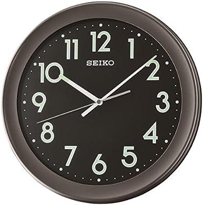 Seiko Plastic Wall Clock (36.8 cm x 36.8 cm x 4.3 cm, Black)