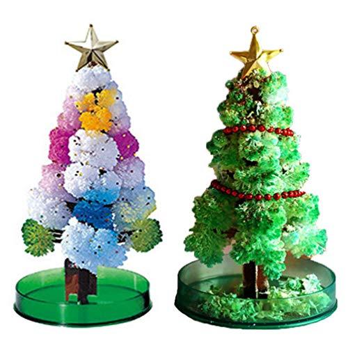 Younoo 2PC Magic Grow Weihnachtsbaum, Magie wächst Neuheit Spielzeug von Ihnen selbst gemacht für Jungen und Mädchen (Grün)