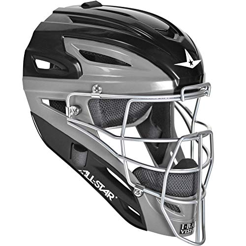 All-Star Mvp2500 Two Tone Catchers Helmet Black/Grey