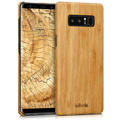 kalibri Wood Case Compatible with Samsung Galaxy Note 8 DUOS - Ultra Slim Natural Hard Wooden Protective Cover - Light Brown
