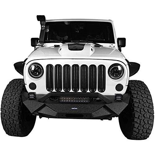 QSWL Parrillas Delanteras del Coche, Malla De La Parrilla Delantera Protección contra Deflectores para 2007-2015 Jeep Wrangler JK Y Unlimited