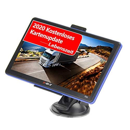 Xgody 886F GPS LKW Navigationsgeräte für Auto,7 Zoll 8GB Motorrad Navi für LKW PKW mit POI Blitzerwarner Sprachführung Fahrspurassistent,2020 EU&UK Lebenszeit Kostenloses Kartenupdate