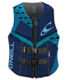 O'Neill Wetsuits Women's Reactor USCG Life Vest, Navy/River/Turquoise,...