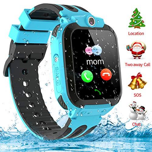 Kinder Smartwatch Telefon Uhr, Vannico Wasserdicht Kids Smart Watch f¨¹r Kinder mit SOS Anruf, Geschenk f¨¹r Jungen M?dchen (Blau)