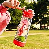 Eono Essentials Infuser Fruit Water Bottle with Handle, Fruit Water Bottle, Infuser Water
