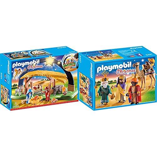 Playmobil 9494 Giocattolo Presepe Illuminato, Multicolore, 9494 & 9497 Giocattolo Re Magi