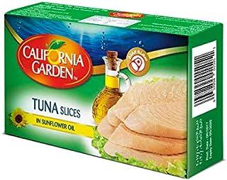 شرائح التونة بزيت عباد الشمس من كاليفورنيا جاردن - 120 جرام