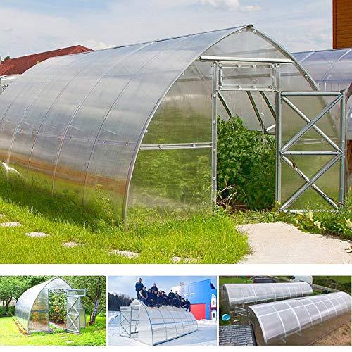 gazebiprofessionali.com Invernadero túnel de 3 x 4 m de policarbonato de 6 mm Premium de Serrashop, invernaderos modulables para huertos, jardines, plantas viveros