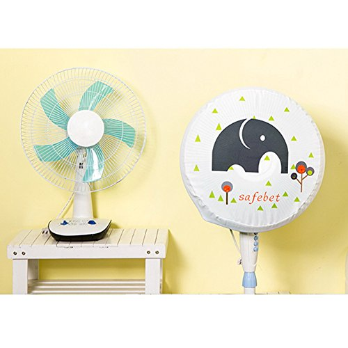Useful Cartoon Brief Oxford Cloth Electric Fan Circle Fan Dust Cover Protection Case Baby Safety Fan Cover Storage Bag Organizer -All U Need