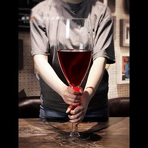 Copa de vino Muy Grande Gran Barra Cerveza Grande Capacidad Rojo de Cristal héroe Copa de Cristal HMLIFE (Size : 1600ML)