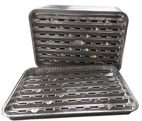 Ingbertson 50 Stück Grillschalen aus Aluminium, eckig, 34 x 23 x 2,5 cm