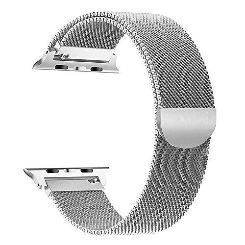 Straper Compatibile con Cinturino Apple Watch 38mm 40mm 42mm 44mm, Cinturino di Ricambio in Acciaio Inossidabile per iWatch Serie 5 4 3 2 1