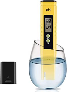 Digital PH Meter, Water Quality Tester with Calibration Solution Powder PH Accuracy 0.01 Measurement for 0-14 Measurement ...