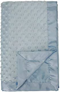 blue knitted baby blanket