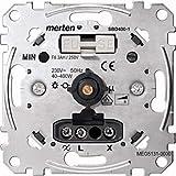 Merten MEG5131-0000 - Regulador giratorio para cargas resistivas con interruptor de botón, 40-400 W