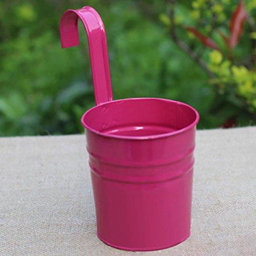 Mamum coloré en métal Vase Pot de fleurs à suspendre fer balcon Jardin Pot de fleurs décoration de maison, Fer, E, 10x8x10cm
