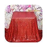 Fastty Royaltime - Mantel rectangular con lentejuelas (225 x 330 cm), color plateado