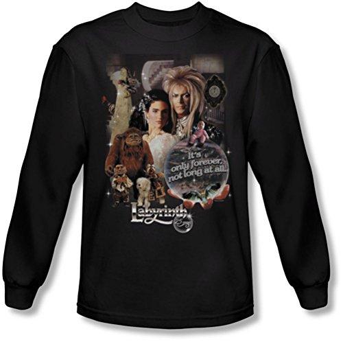 Labyrinth - - 25 ans pour hommes de la chemise magique manches longues en noir, Large, Black