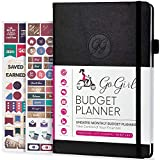 GoGirl Budget Planner - Monthly Financial Planner Organizer Budget Book. Expense Tracker Notebook Journal to Control Your Money. Undated - Start Any Time, 5.3' x 7.7', Lasts 1 Year - Black