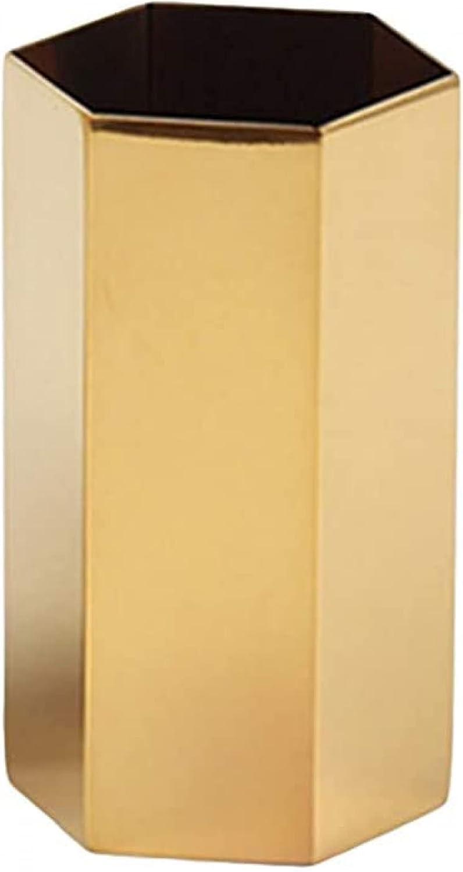 BERTY·PUYI Metal Max Super special price 69% OFF Pencil Holder Hexagonal Storage Ja Brush Makeup