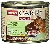 animonda Carny Adult cibo per gatti, alimento umido per gatti adulti, tacchino + coniglio, 6 x 200 g
