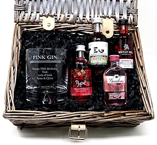 Personalised Pink Gin Gift Hamper