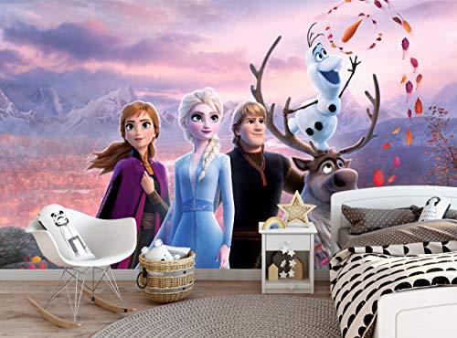 Fototapete - Disney Frozen - Frozen - Fototapete Bild Dekoration Wanddekor (144 x 100 Zoll/366 x 254 cm) Riesen Papier Poster für Kinder Kinderzimmer Mädchen Zimmer