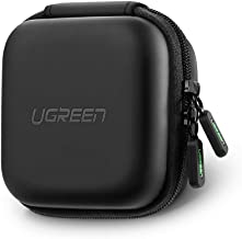 UGREEN Headphone Organizer, Mini Shockproof Carrying Pouch Bag for AirPods/Bose/Beats/Sony Wireless Earbuds Bluetooth Headphone, Square Reader, Wall Charger USB Flash Drive Bluetooth Adapter USB Cable