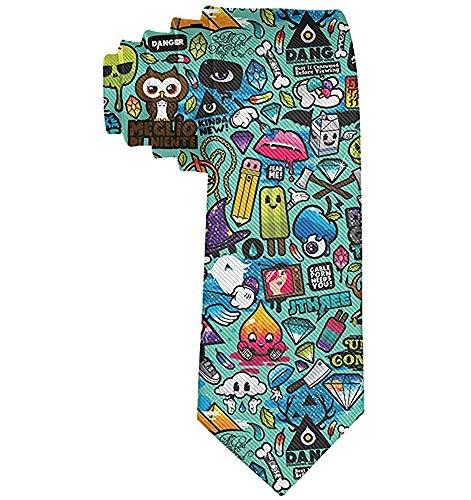 Corbata de moda para hombre Corbata de diseño de dibujos animados Corbata de poliéster