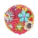 DFHTR Broches para Mujer Material De Algodón Flor Colorida Broche Redondo Pin De Boda Collar para MujerDecoraciónpara MujerJoyería De Moda