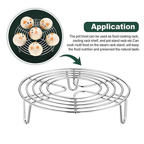 Rejilla para cocer al vapor, soporte circular para vaporizador de acero inoxidable, olla para hervir al vapor rápida, olla a presión, rejilla para vapor, accesorios para verduras