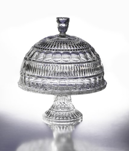 Fifth Avenue Crystal Princeton Pedestal Cake Plate with Dome: Kitchen & Dining