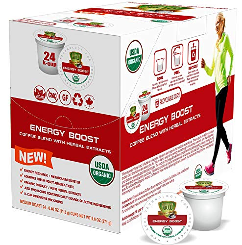 SOLLO Weight Loss Coffee Pods Compatible With 2.0 K-Cup Keurig Brewers, Weightloss Control, Suppresses Appetite, Slimming Artisan 100% Arabica COFFEE, Organic by USDA, 24 Count