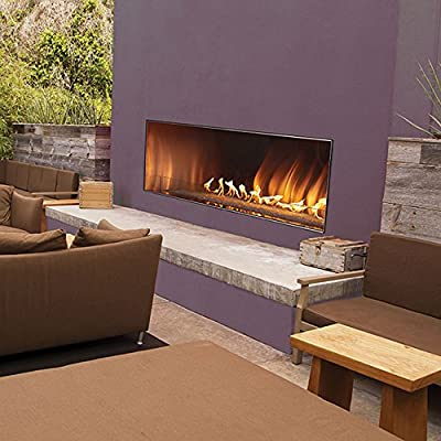 AMERICAN HEARTH OLL48FP12SN Carol Rose 48-Inch Outdoor Manual Ignition Linear Fireplace - Natural Gas