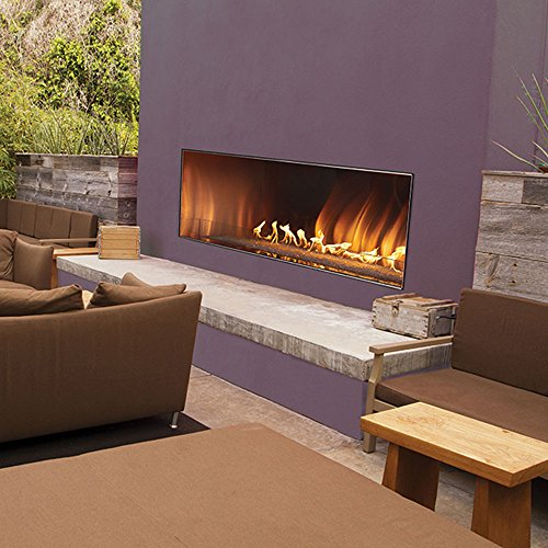 """Empire Comfort Systems Outdoor 60"""" SS Manual Ignition Linear Fireplace - Natural Gas"""