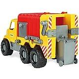 Wader Müllwagen mit Abnehmbarer Tonne, wetterfest und stabil, Made in EU || 46 cm Spielzeug LKW Spielzeugauto Sandfahrzeug Strandspielzeug -