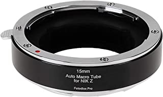 Fotodiox Pro 15mm Automatic Macro Extension Tube Compatible with Nikon Z Mount Cameras