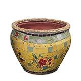 NZKW Maceta de cerámica Pintada Mexicana, Maceta de Mosaico de cerámica de Colores, Maceta de bonsái, Maceta de jardín, Maceta de Arte, Maceta suculenta, clásico Creativo con Agujeros,