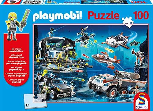 Schmidt Spiele Puzzle 56272 Playmobil, Top Agents, 100 Teile