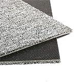 Moqueta en losetas (50 x 50 cm, resistente, con parche adhesivo, 28 unidades), color gris claro
