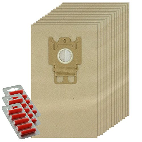 SPARES2GO GN Type Papieren Tassen voor Miele Complete C2 C3 Kat & Hond Powerline Silence Ecoline Stofzuiger (15 Tassen + Fresheners)