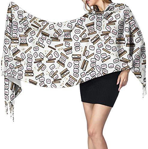 Kleine Smores Herhaal Zachte Cashmere Sjaal Wrap Sjaals Lange Sjaals Voor Vrouwen Office Party Reizen 68X196 cm